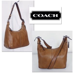 Coach Legacy Burnished Lightly Distressed Tan Leat